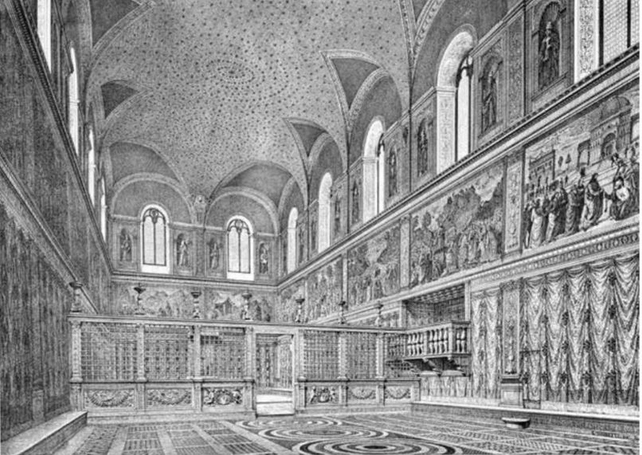 The Sistine Chapel stands on the site of the Cappella Maggiore.- Sheet11