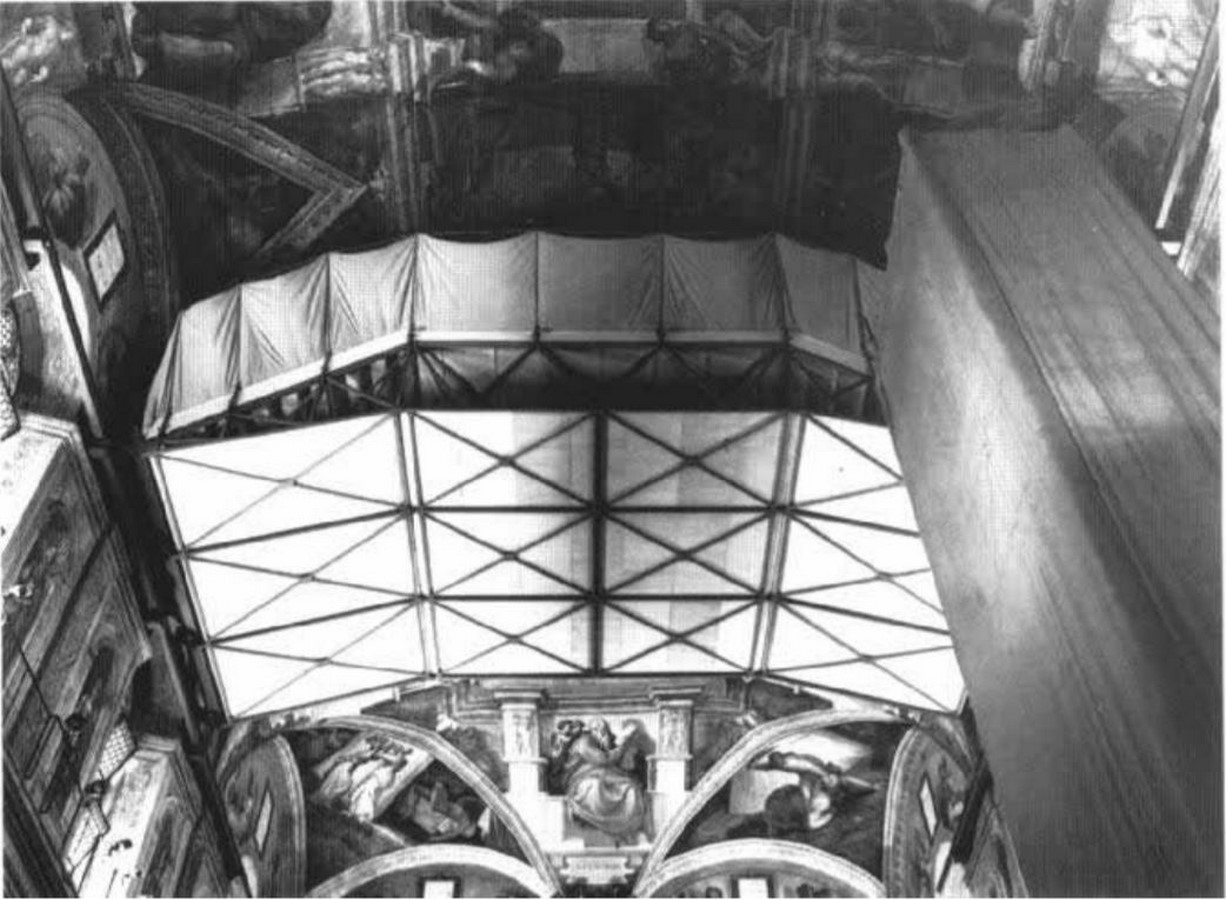 The Sistine Chapel stands on the site of the Cappella Maggiore.- Sheet16