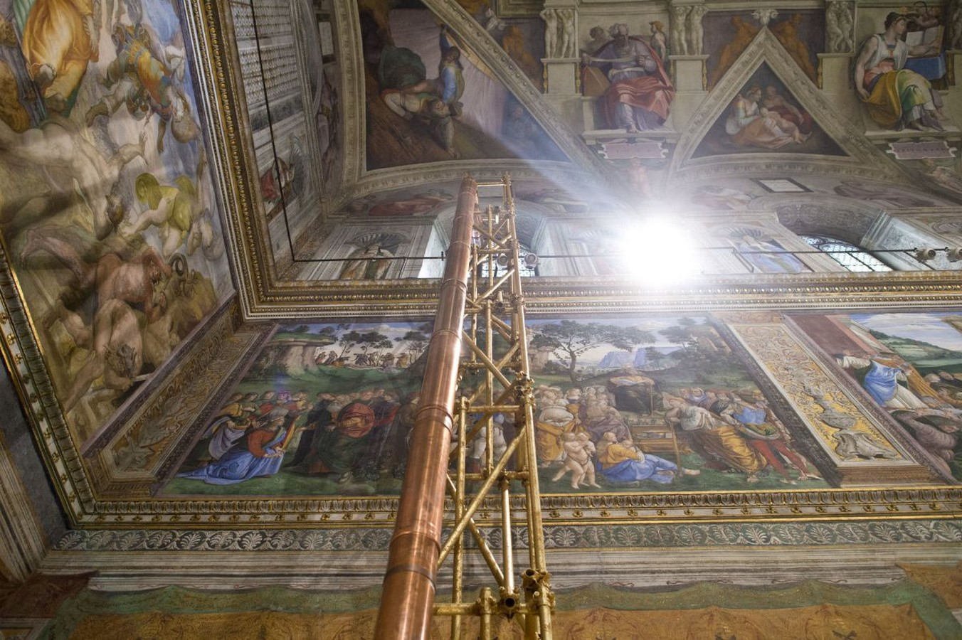 The Sistine Chapel stands on the site of the Cappella Maggiore.- Sheet4