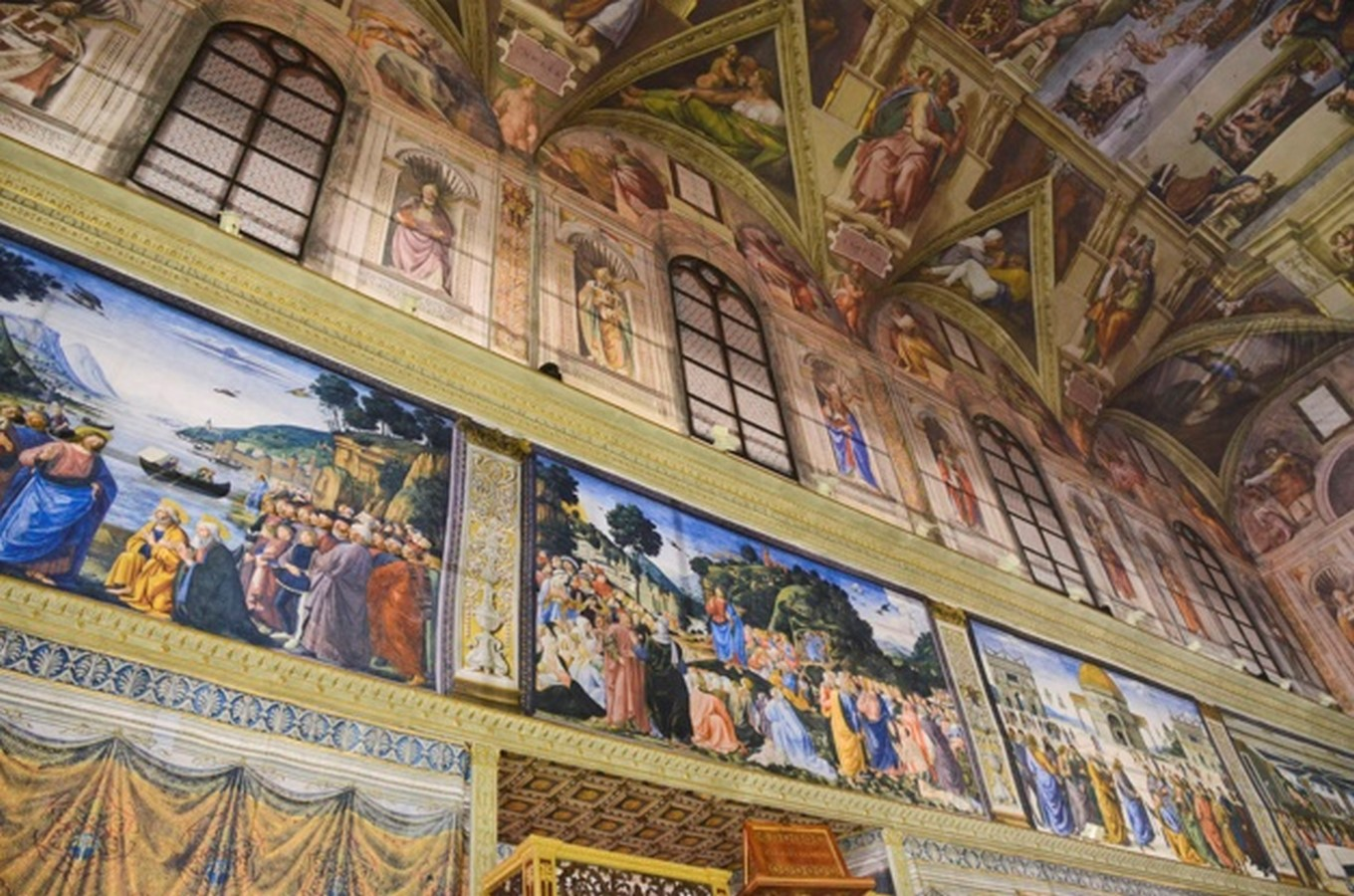 The Sistine Chapel stands on the site of the Cappella Maggiore.- Sheet6