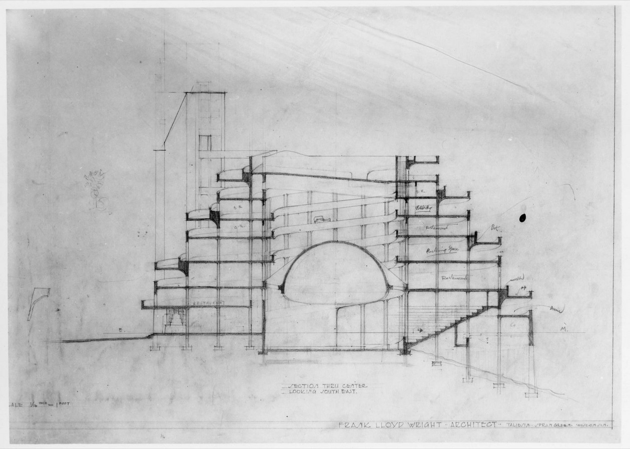 Automobile Objective and Planetarium, Frank Lloyd Wright - Sheet2