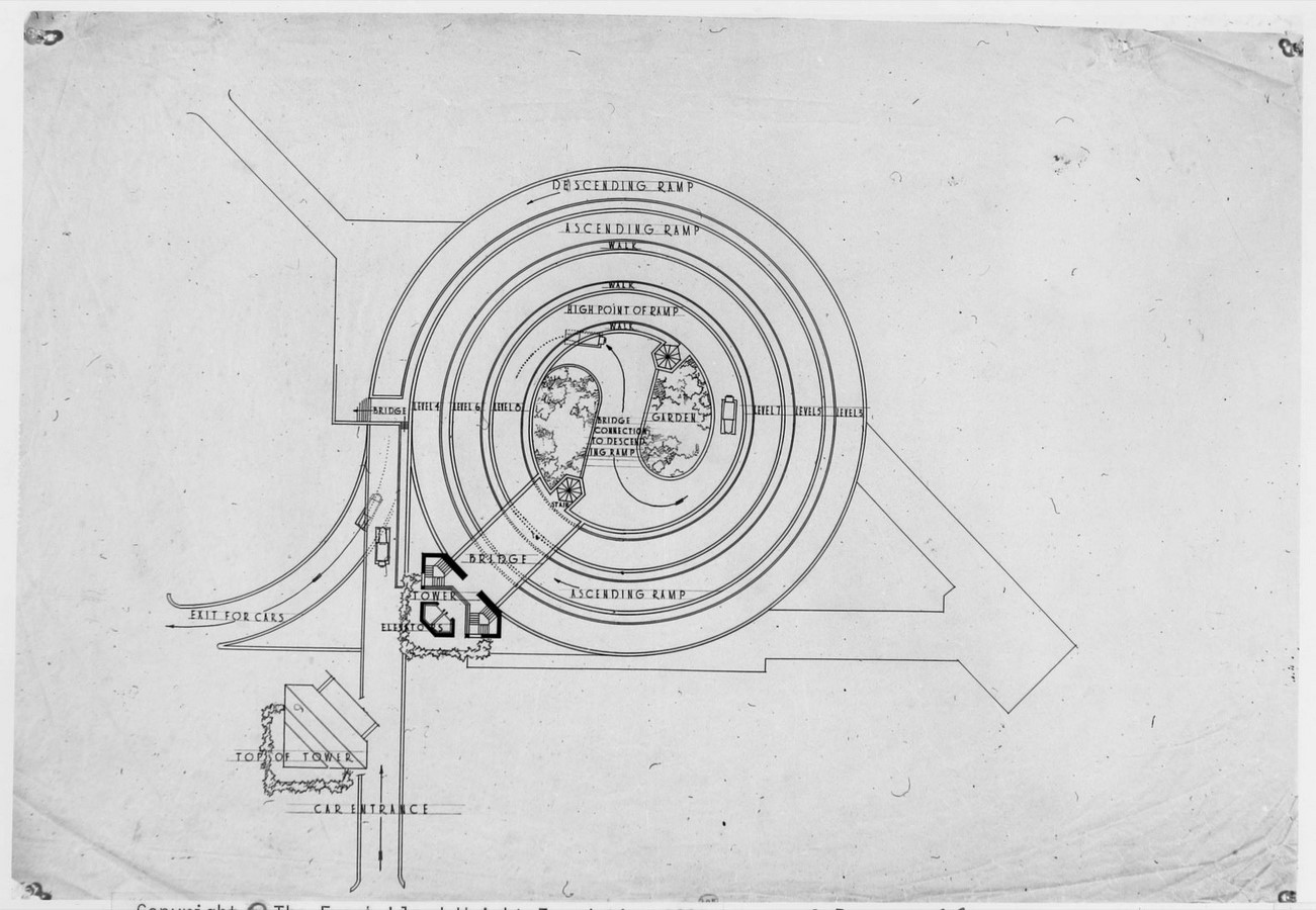 Automobile Objective and Planetarium, Frank Lloyd Wright - Sheet3