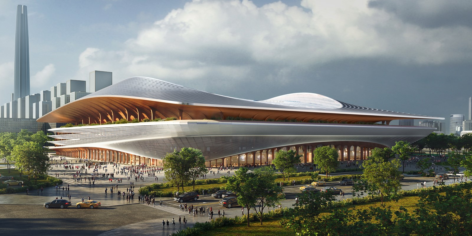 Xi'an International Football Centre By Zaha Hadid Architects - Sheet1