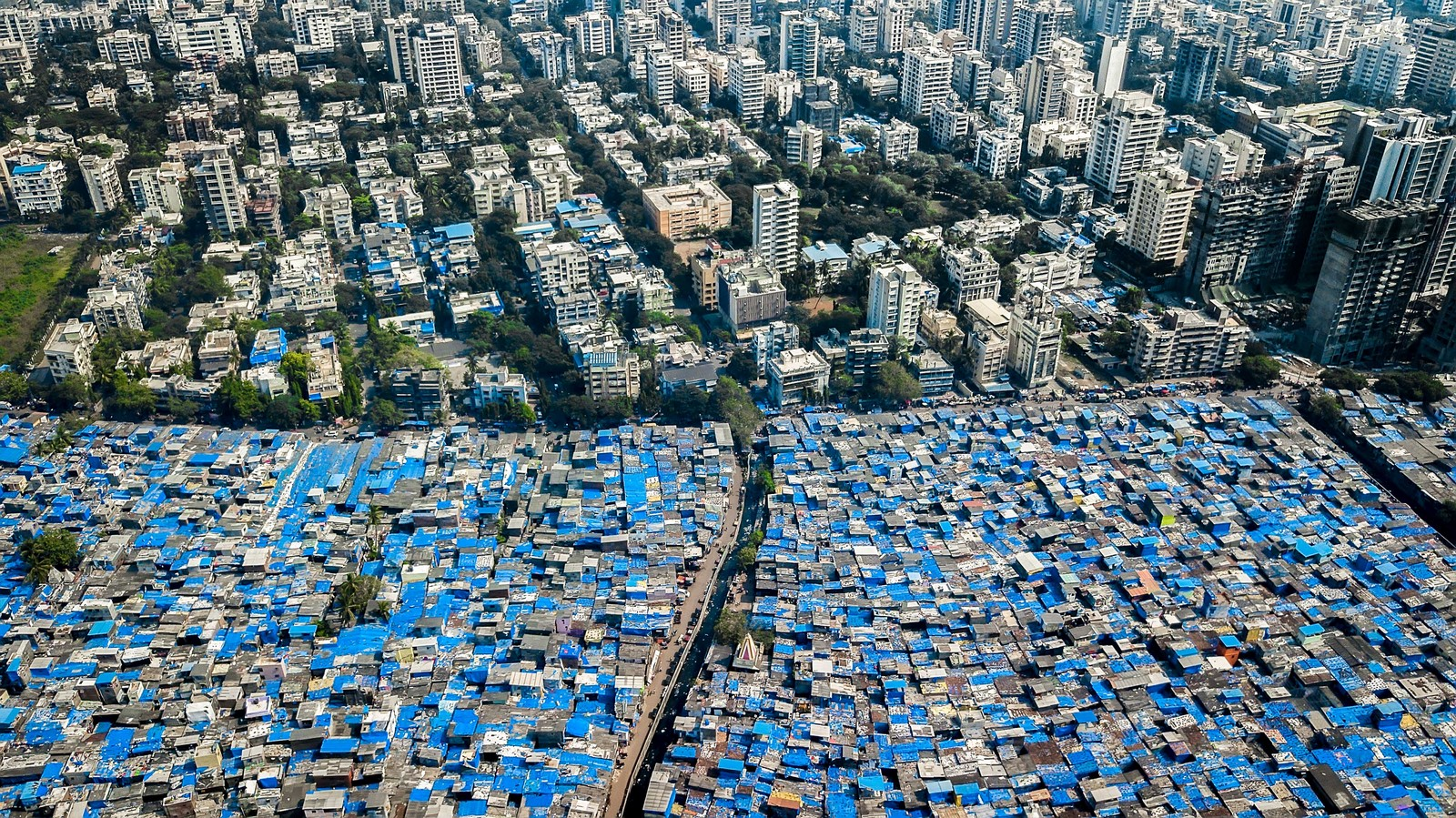 Contrast in the cityscape of Mumbai - Sheet1