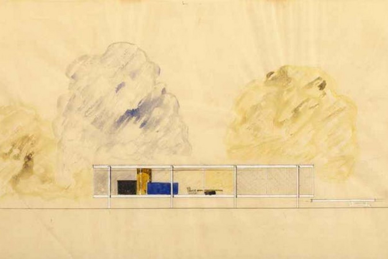 10 Famous architects who were/are great painters- Mies Van Der Rohe - Sheet4