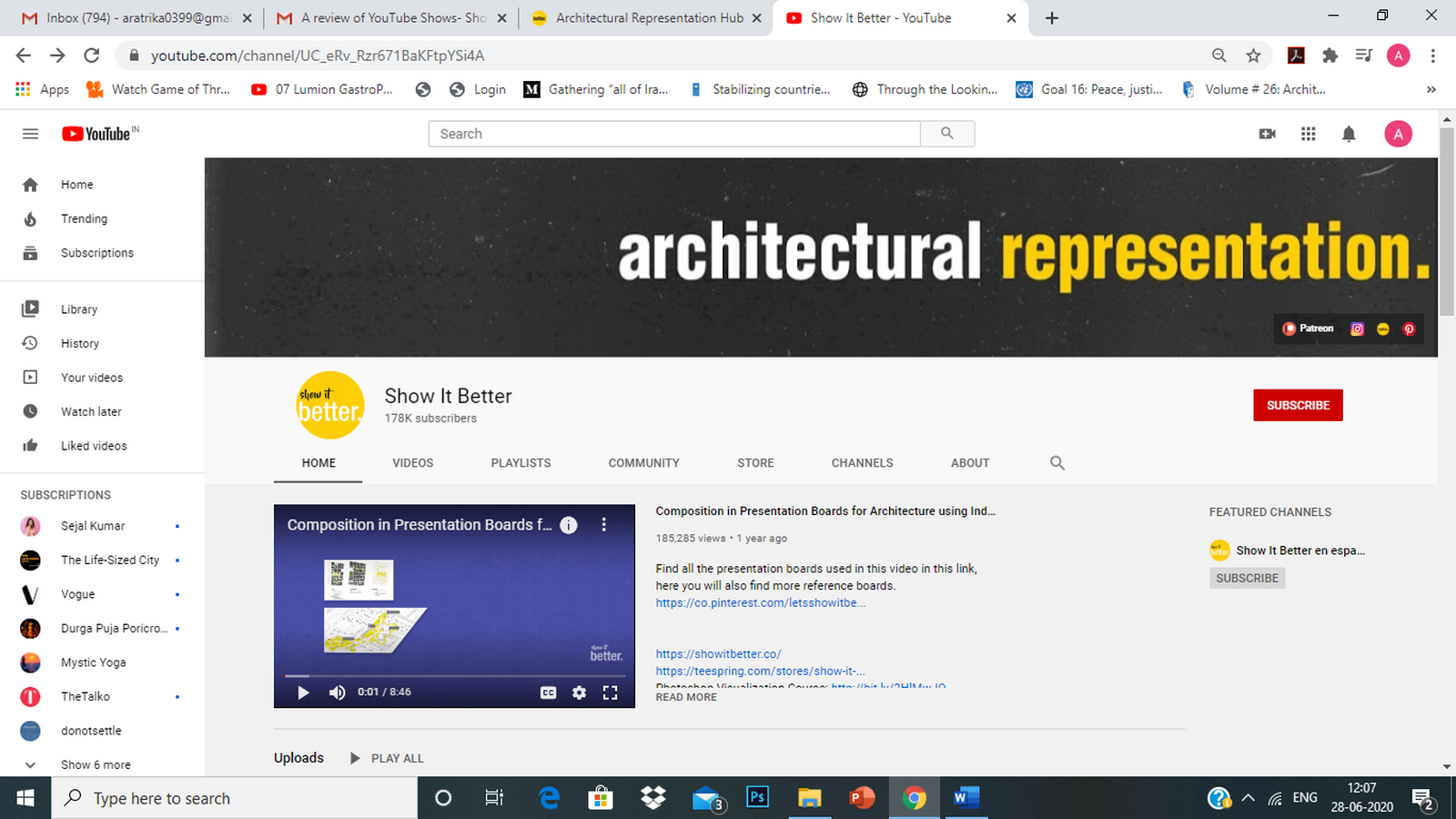 Youtube for Architects- Show It Better - Sheet1
