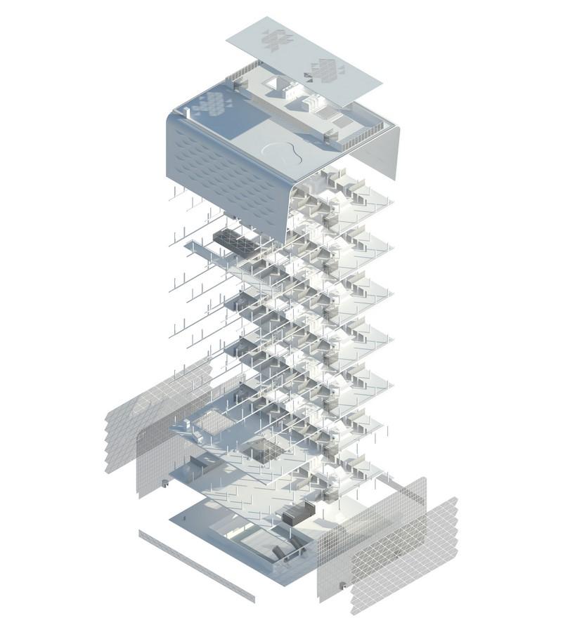 London's Ravensbourne University by Desitecture Edudrome- Anodized Aluminium Tiles Cladding - Sheet4
