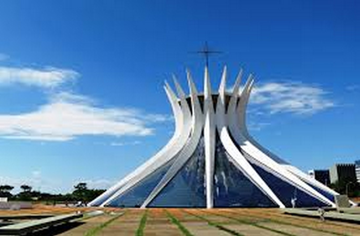 Cathedral of Brasília by Oscar Niemeyer-Hyperbolic structure built from Concrete - Sheet1