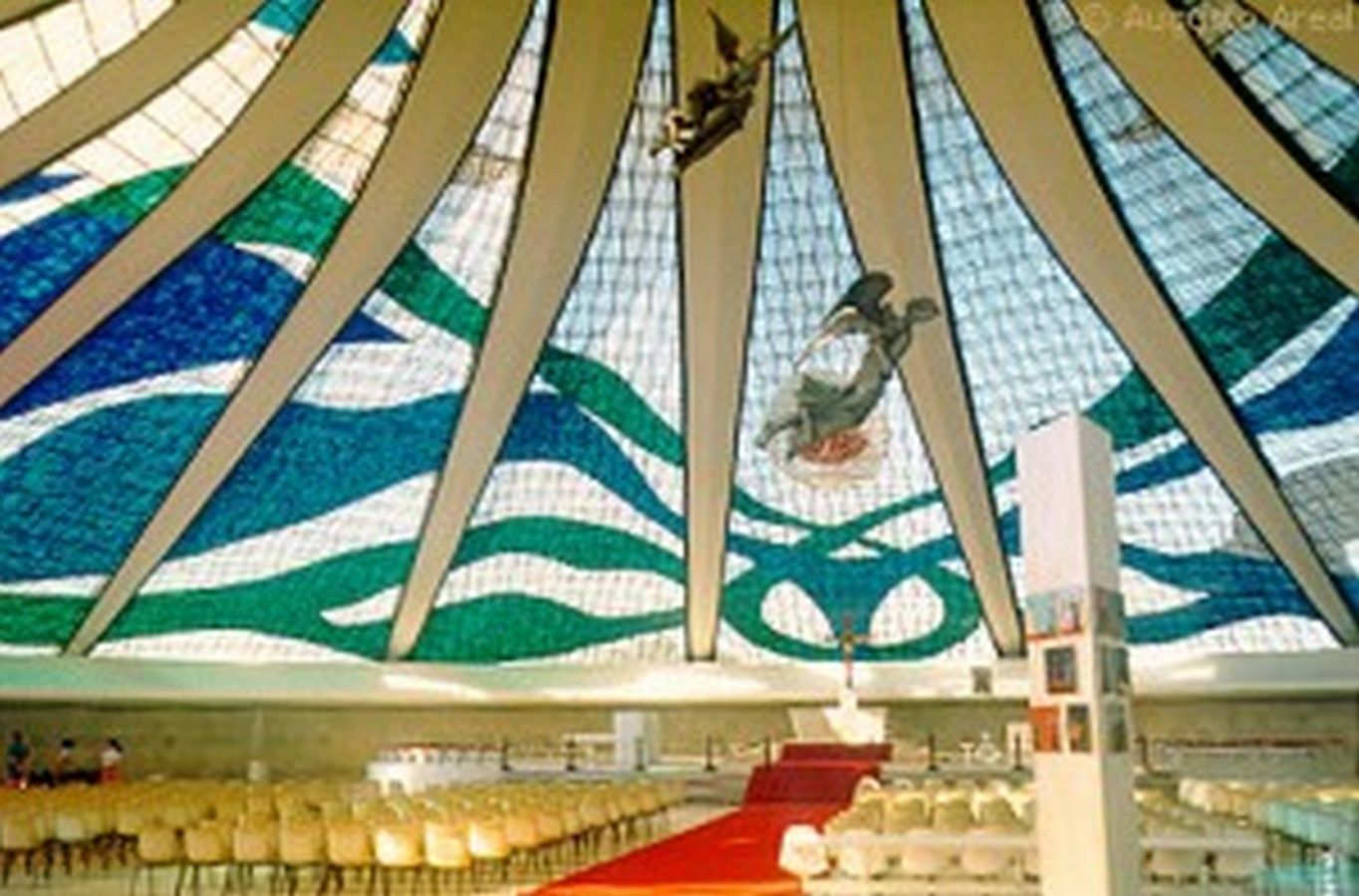 Cathedral of Brasília by Oscar Niemeyer-Hyperbolic structure built from Concrete - Sheet4