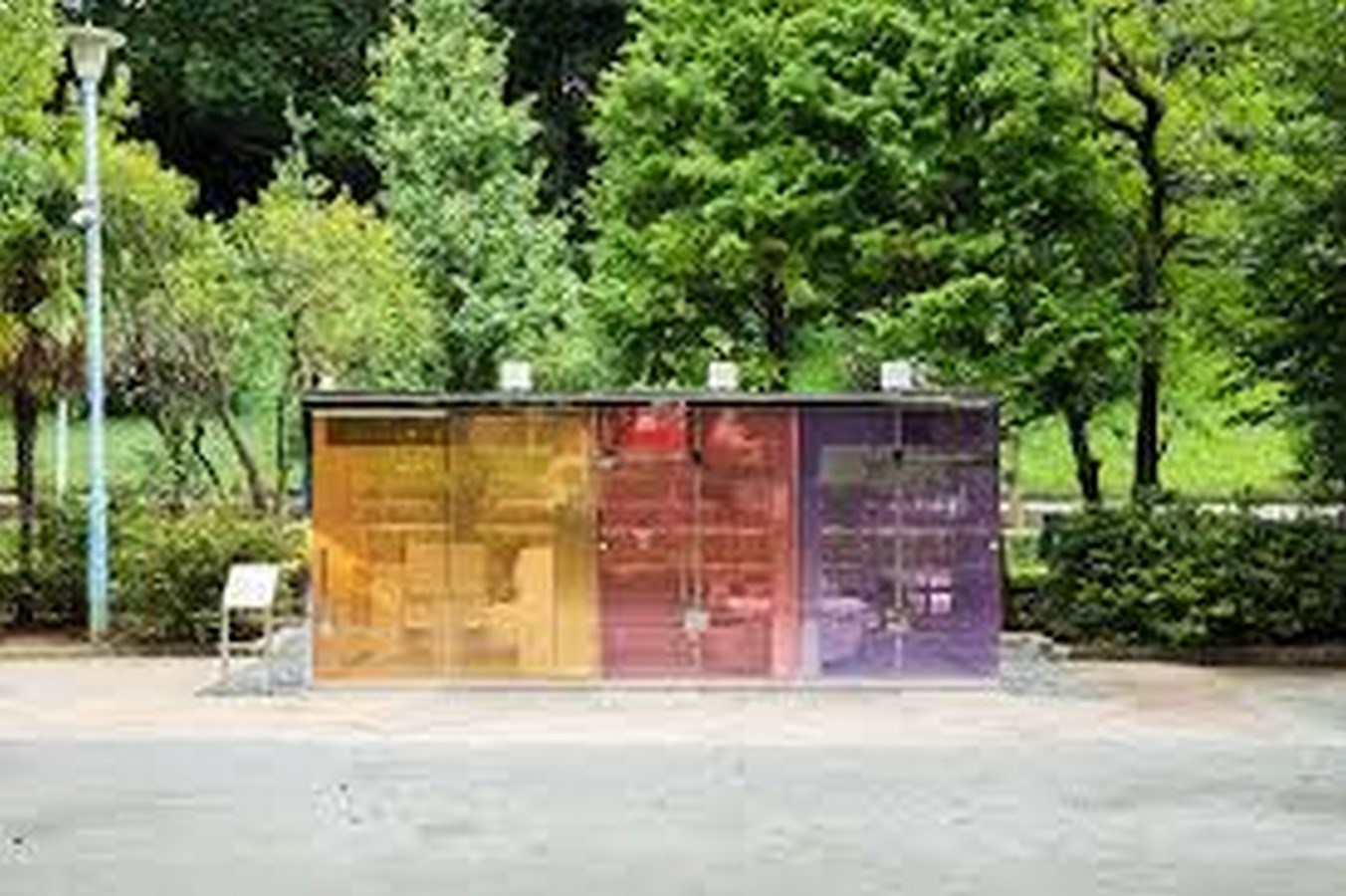 Transparent to Opaque Toilets designed by Shigeru Ban is the new highlights of Tokyo - Sheet1