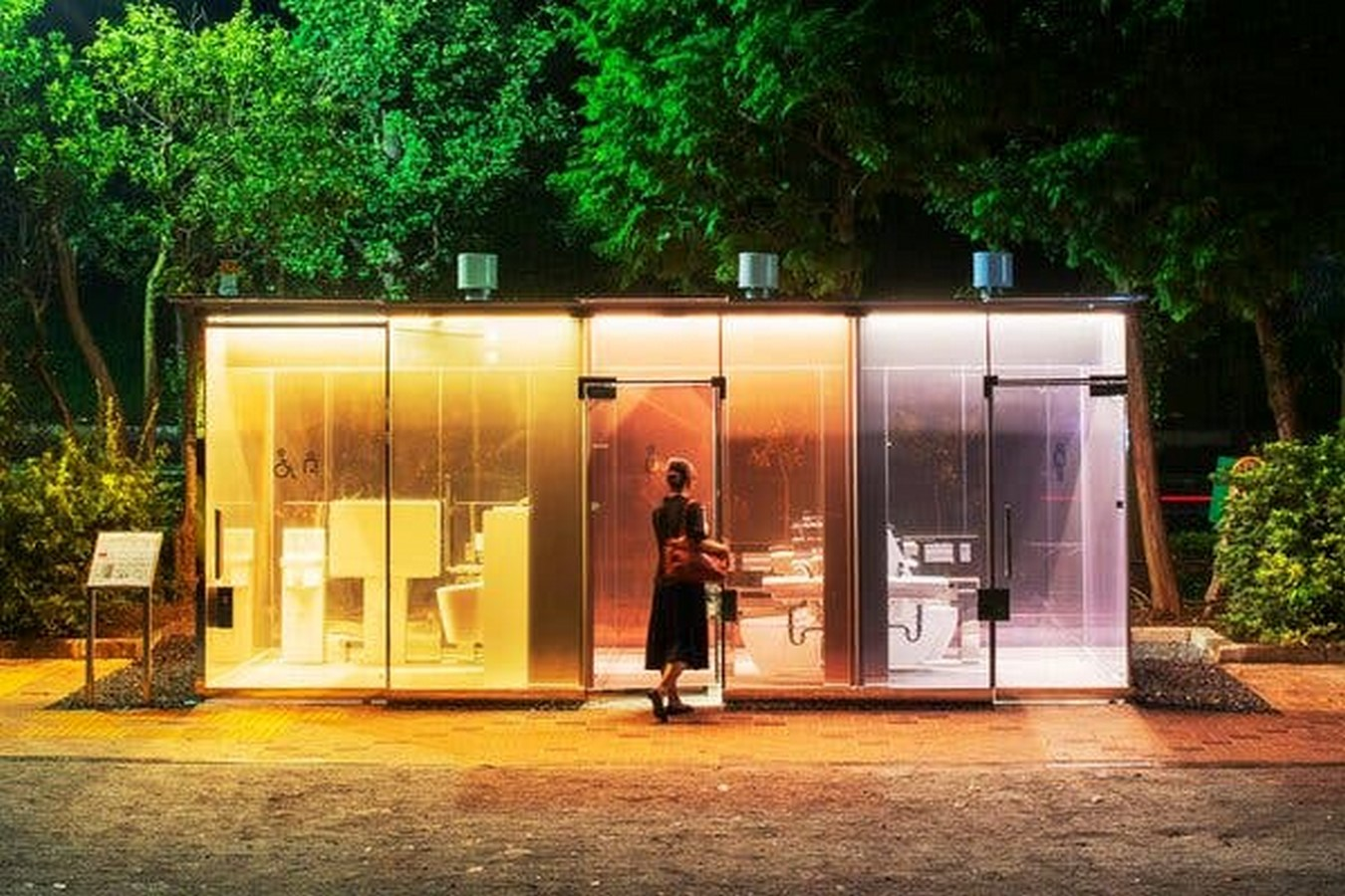 Transparent to Opaque Toilets designed by Shigeru Ban is the new highlights of Tokyo - Sheet2