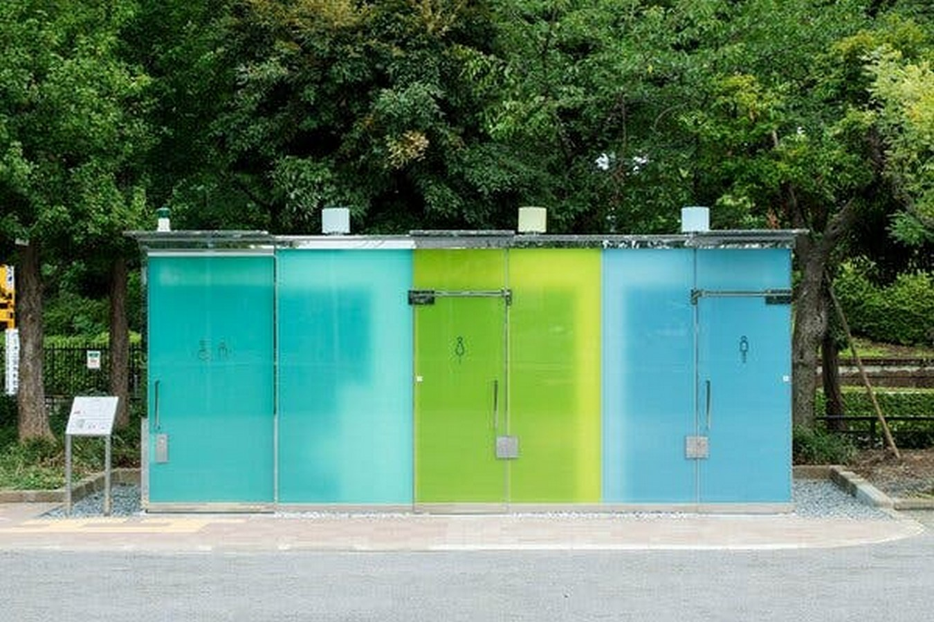 Transparent to Opaque Toilets designed by Shigeru Ban is the new highlights of Tokyo - Sheet4