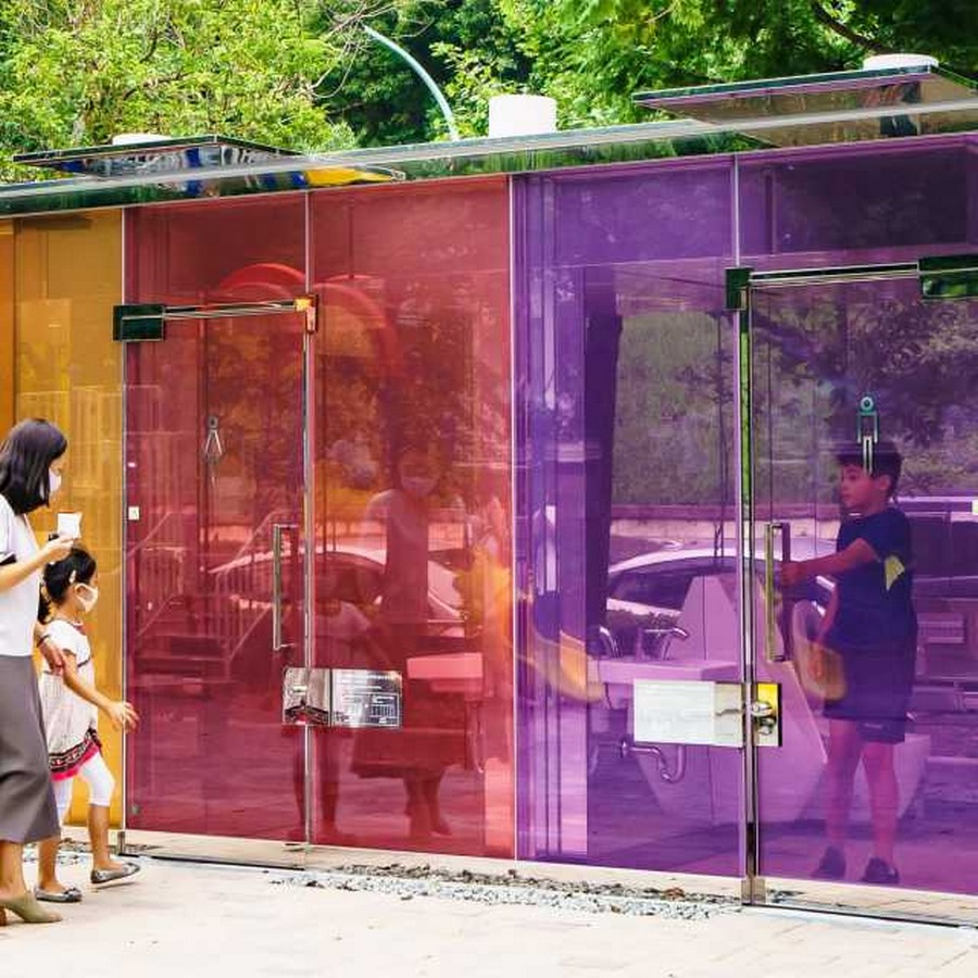 Transparent to Opaque Toilets designed by Shigeru Ban is the new highlights of Tokyo - Sheet5