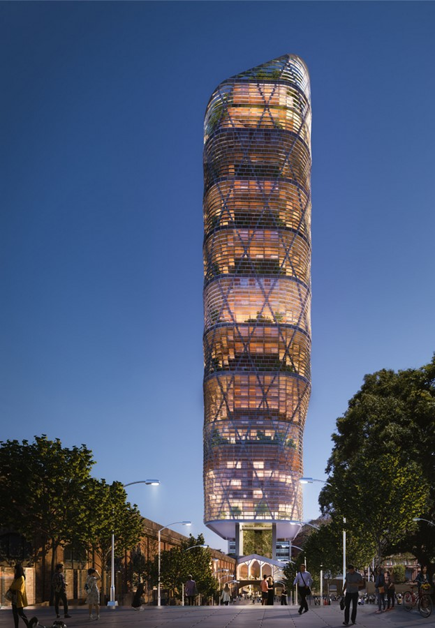 World's tallest commercial hybrid timber tower for Sydney revealed by SHoP Architects and BVN Design - Sheet5
