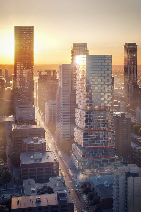 Church + Wellesley by 3XN- The staggered high-rise, Toronto, Canada - Sheet1