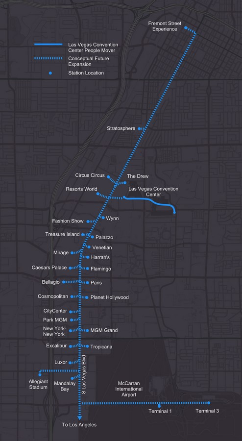 The People Mover- Las Vegas Convention Center Loop station, and its private shuttles revealed by Elon Musk - Sheet3