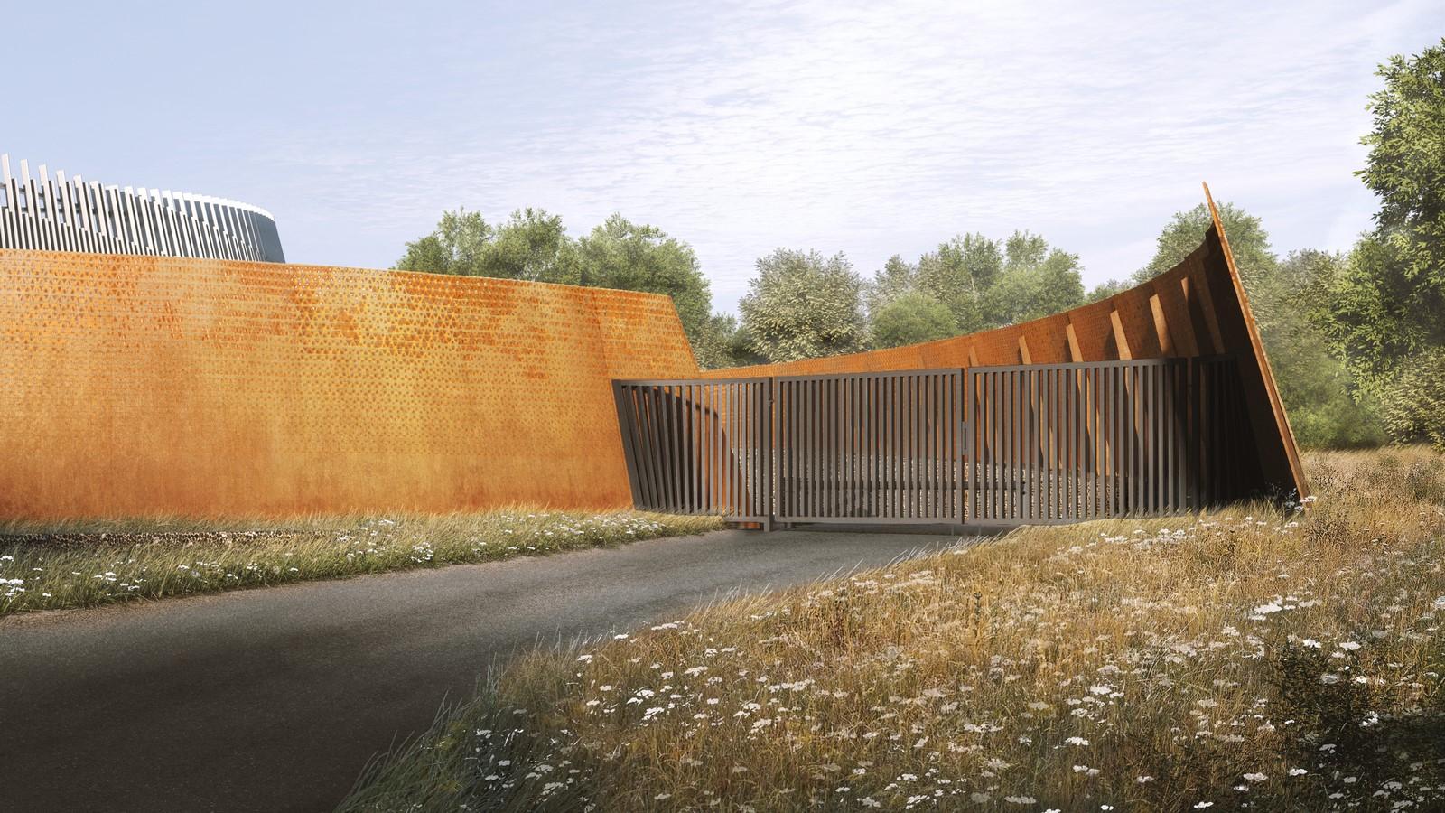 Sculptural Metal enclosure for HS2 ventilation shaft designed by Grimshaw - Sheet6