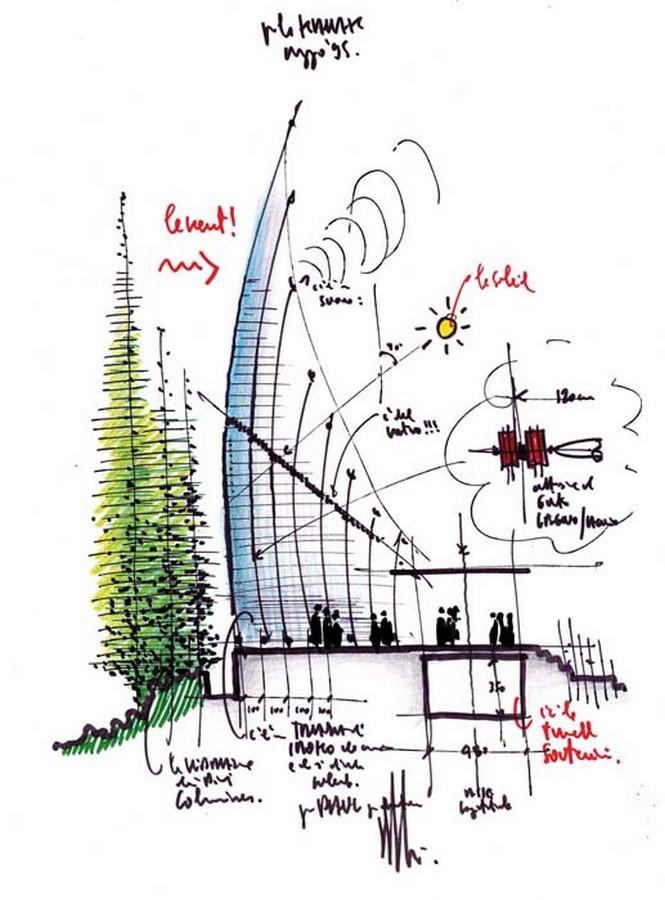 Jean-Marie Cultural Center by Renzo Piano: Symbolizing the Kanak civilization - sheet 3
