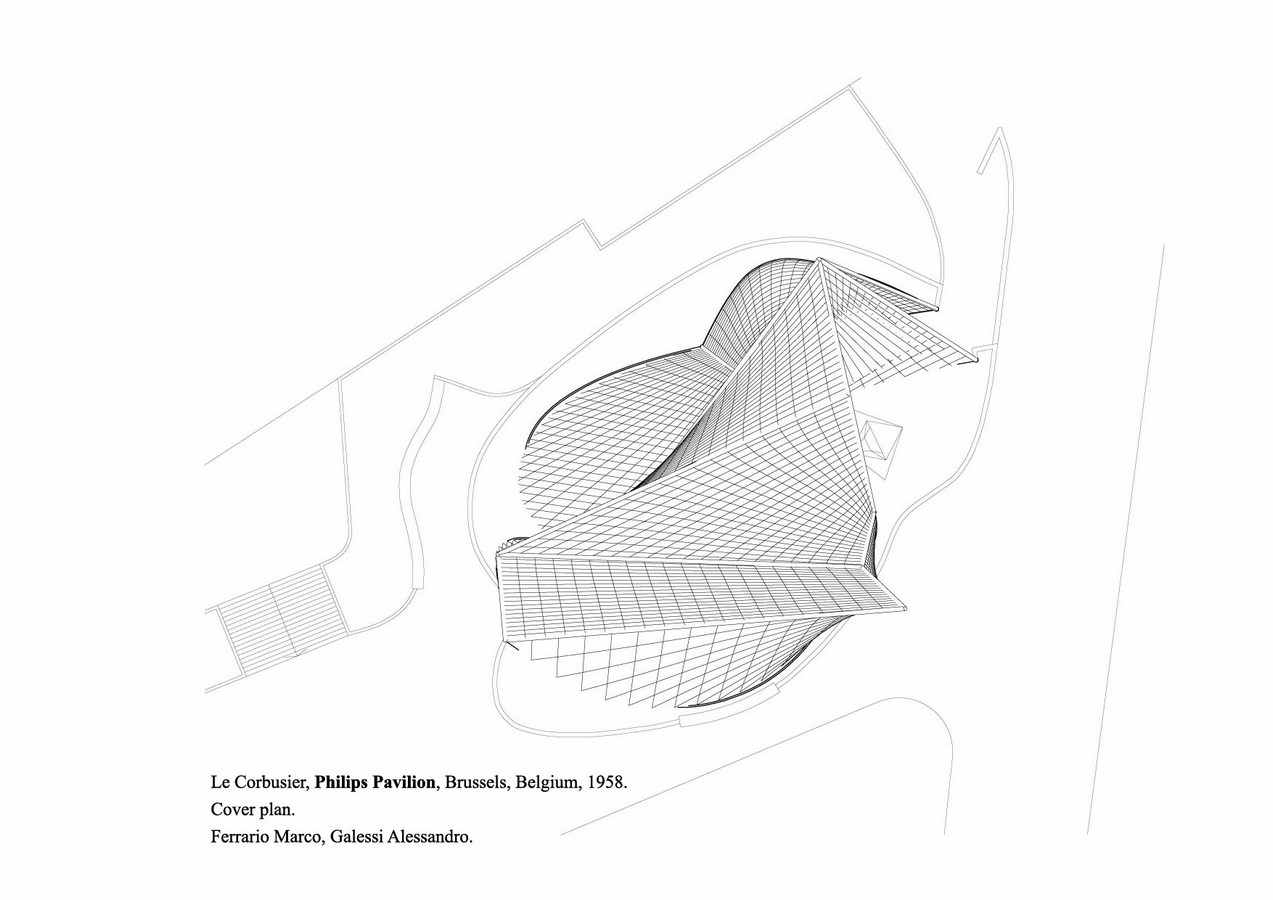 Philips Pavilion, Brussels by Le Corbusier: Organic Synthesis - Sheet6