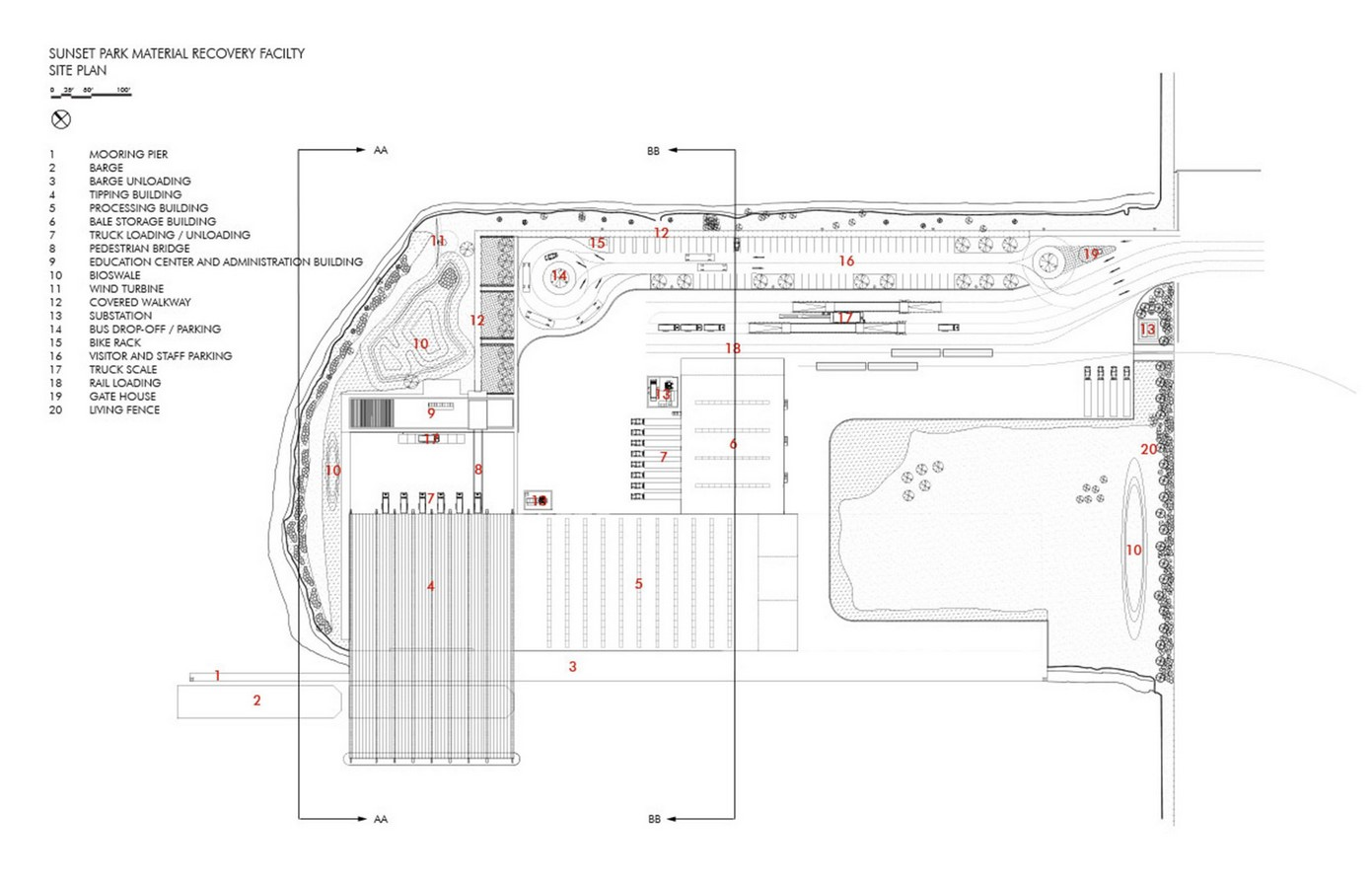 Sunset Park Material Recovery Facility / Selldorf Architects- Sheet1