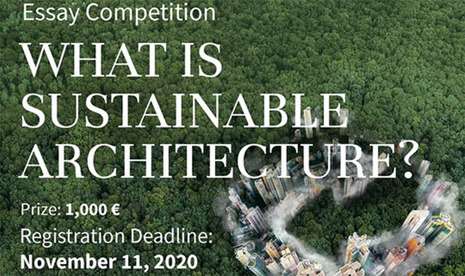 What is Sustainable Architecture? – Essay Writing Competition - Sheet1