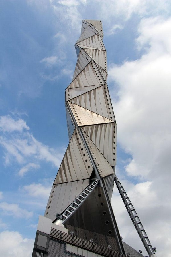 Art Tower Mito by Arata Isozaki -Inspired by Tetrahedra - Sheet1