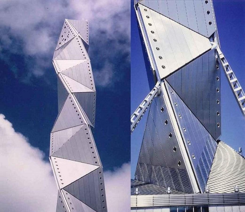 Art Tower Mito by Arata Isozaki -Inspired by Tetrahedra - Sheet2