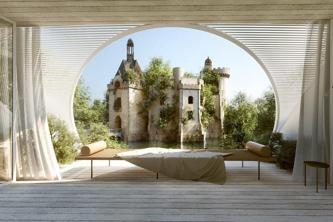 'château-scope' treehouse to frame views of a french castle proposed by LMTLS - Sheet4