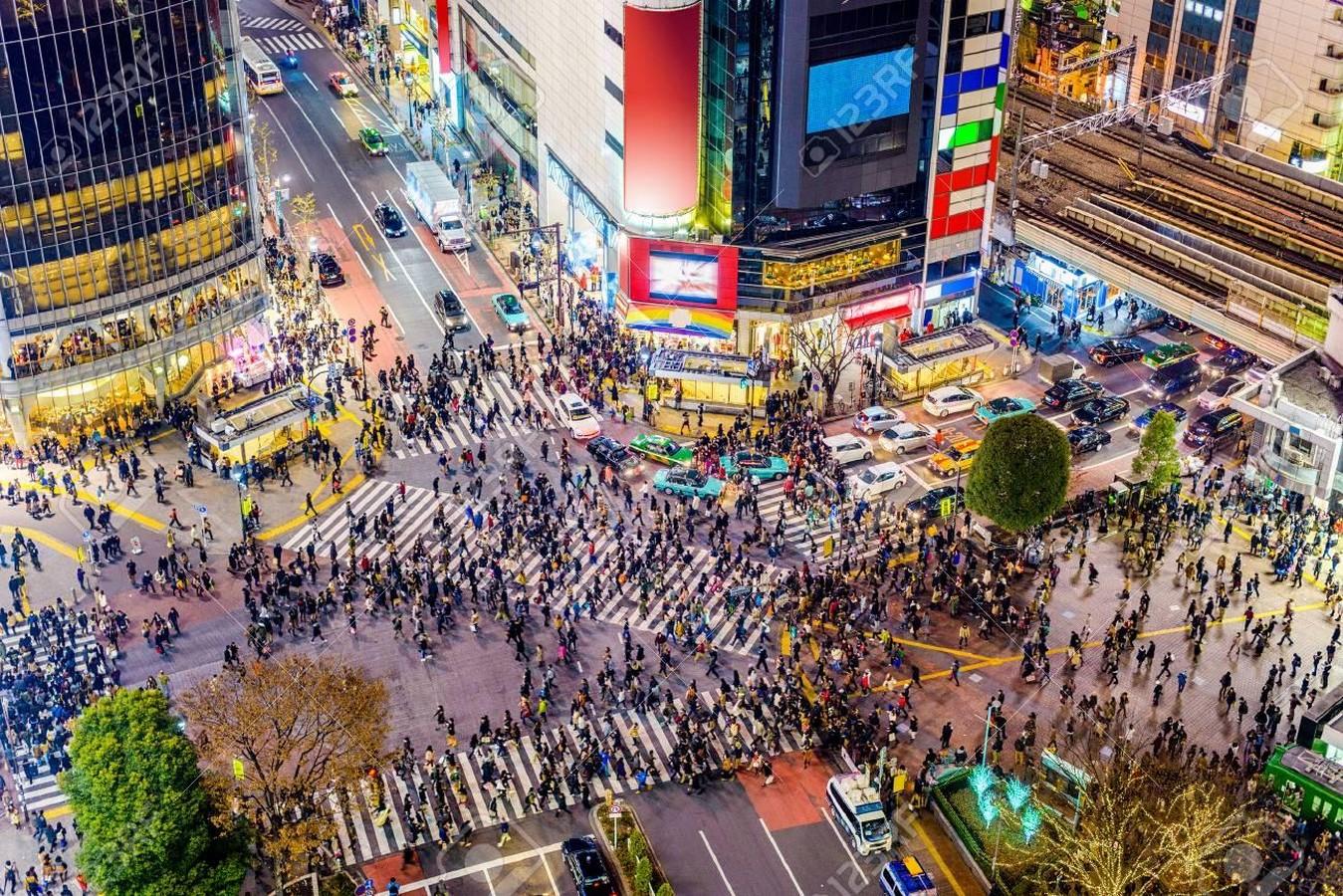 Shibuya junction crossing, Tokyo, Japan- sheet1
