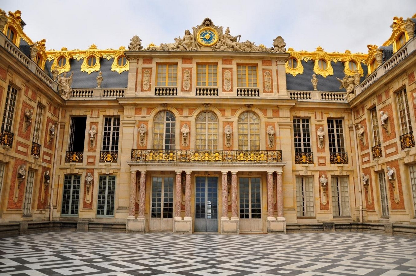 Marble Court, Palace of Versailles, France- sheet1