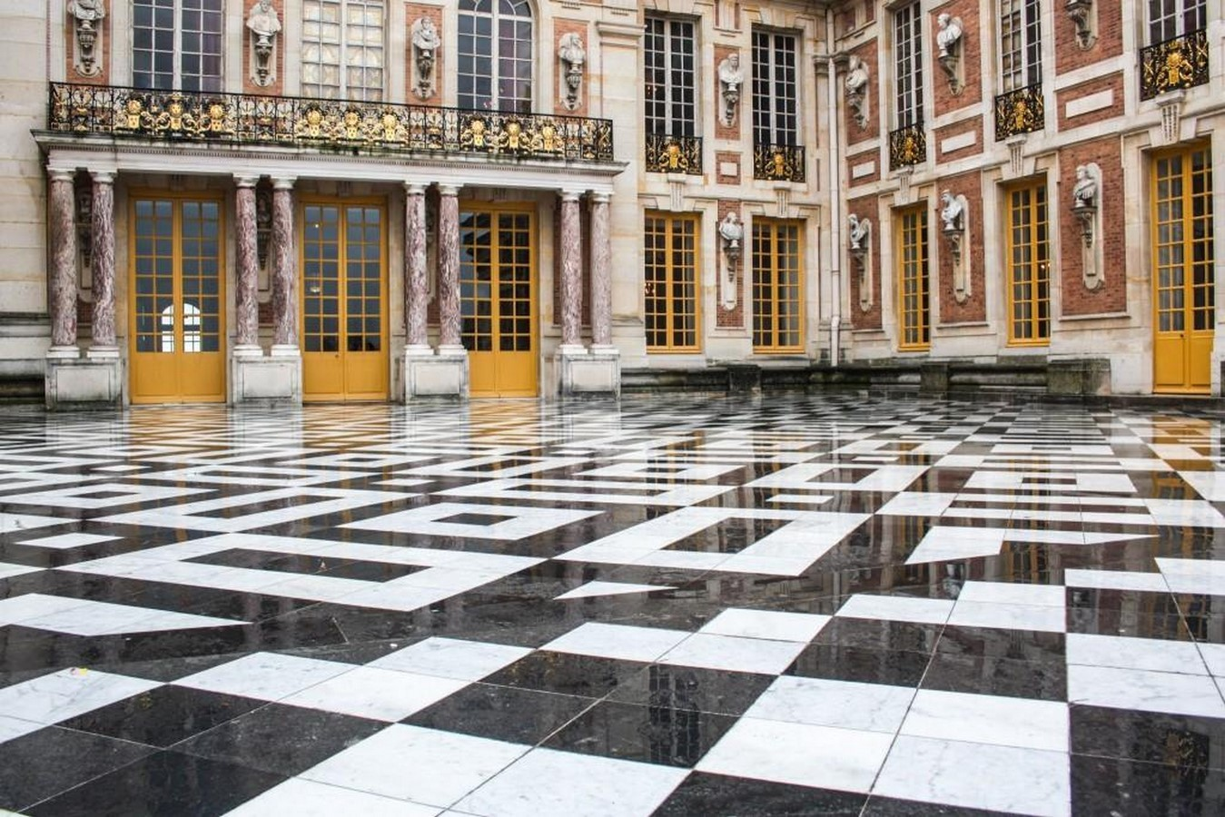 Marble Court, Palace of Versailles, France- sheet2