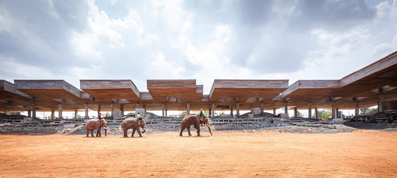'Cultural courtyard' for elephants + humans in thailand created by Bangkok project studio- sheet1