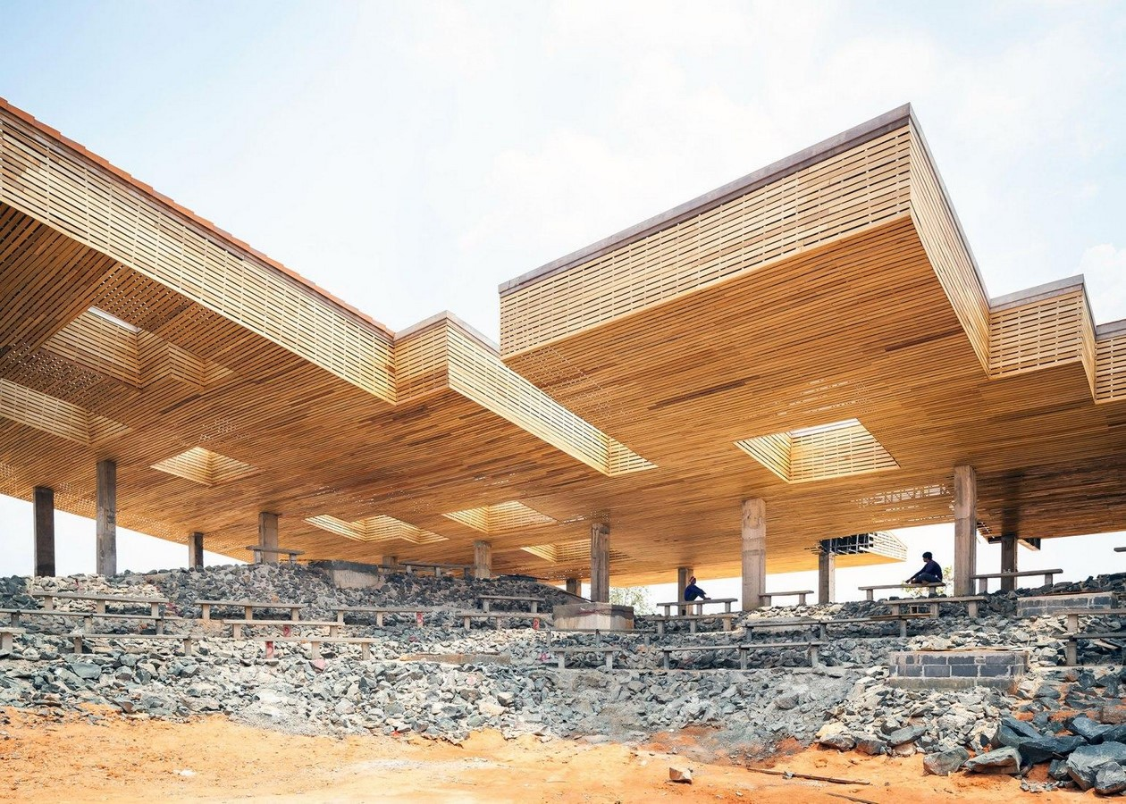 'Cultural courtyard' for elephants + humans in thailand created by Bangkok project studio- sheet11