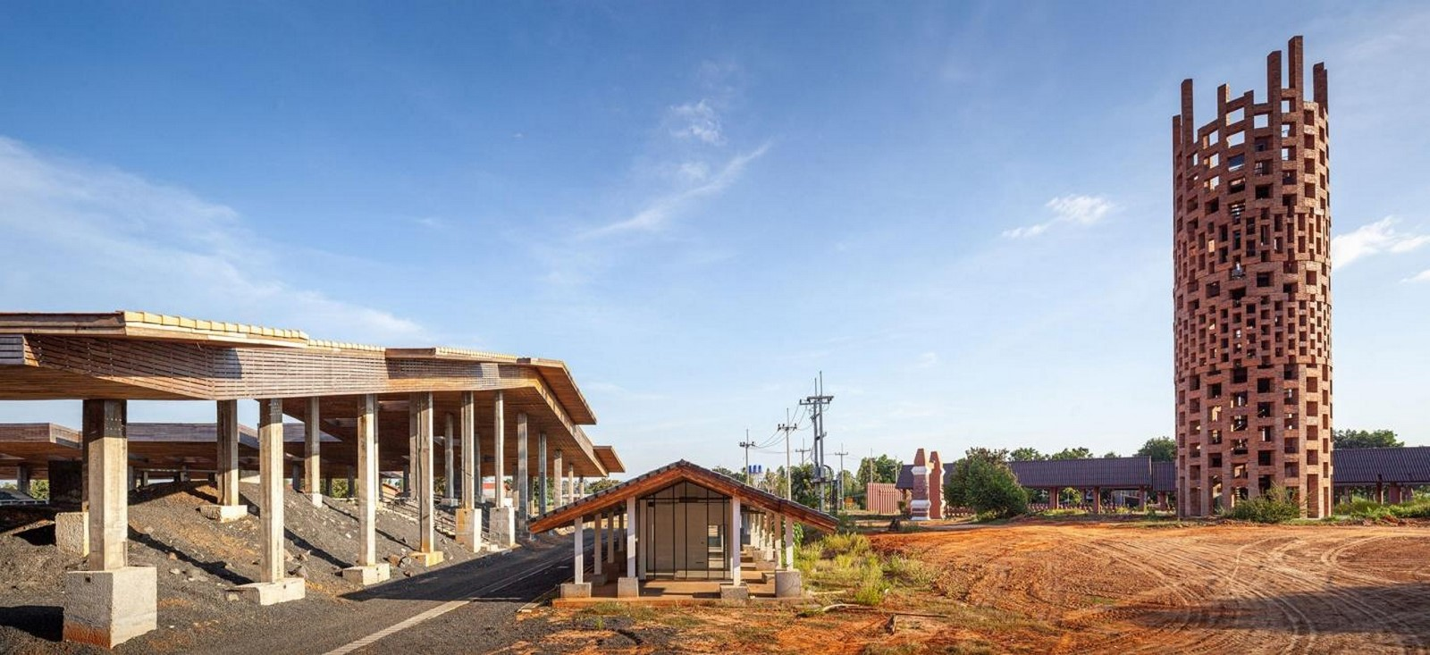 'Cultural courtyard' for elephants + humans in thailand created by Bangkok project studio- sheet4