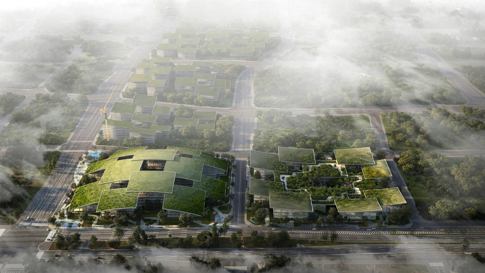 An Artificial Intelligence-Based 'Smart City' in China plans revealed Bjarke Ingels - Sheet1