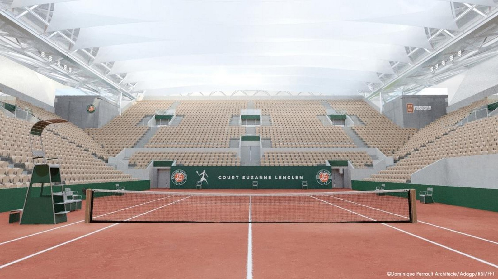 Suzanne Lenglen Tennis Court in Paris to be transformed with delicately pleated retractable roof by DPA - Sheet1
