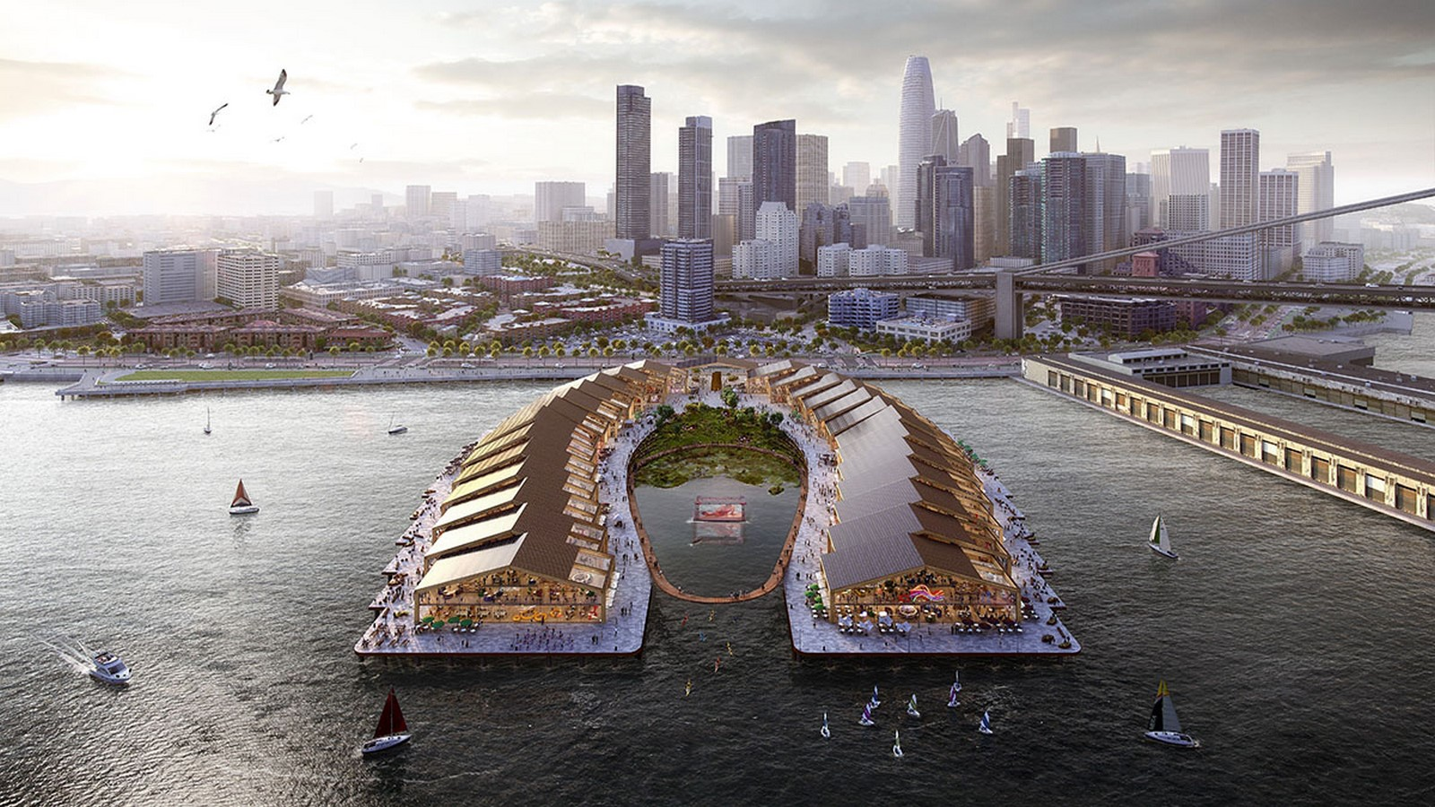 Flood-resilient park The Cove for San Francisco designed by Heatherwick Studio- sheet1