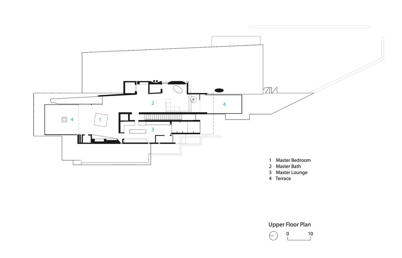 Three-storey coloured window, Lookout House created by Faulkner Architects - Sheet14