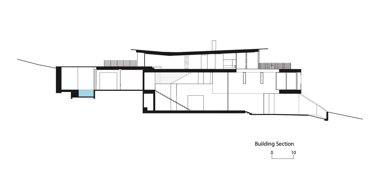 Three-storey coloured window, Lookout House created by Faulkner Architects - Sheet16