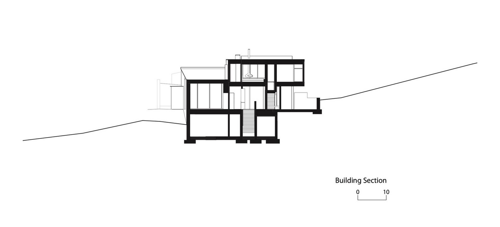 Three-storey coloured window, Lookout House created by Faulkner Architects - Sheet17