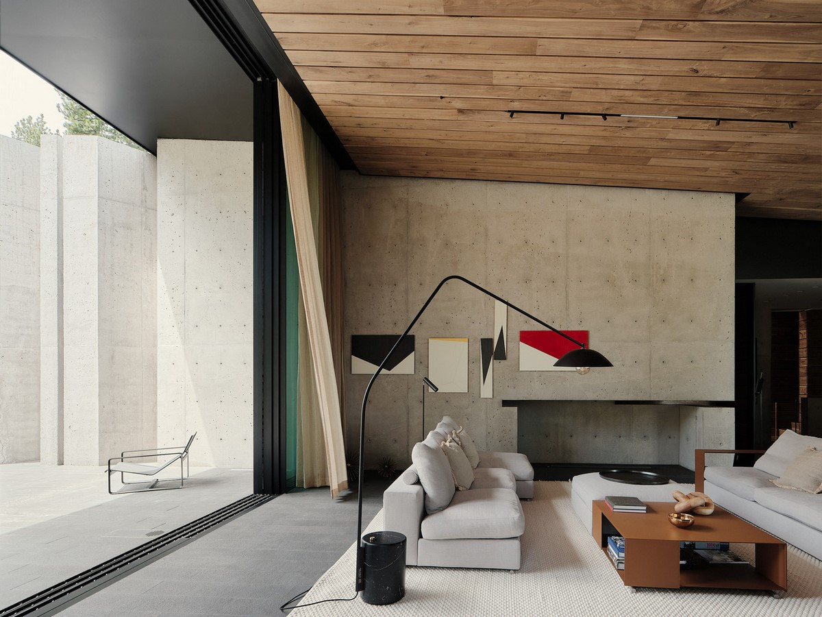 Three-storey coloured window, Lookout House created by Faulkner Architects - Sheet4