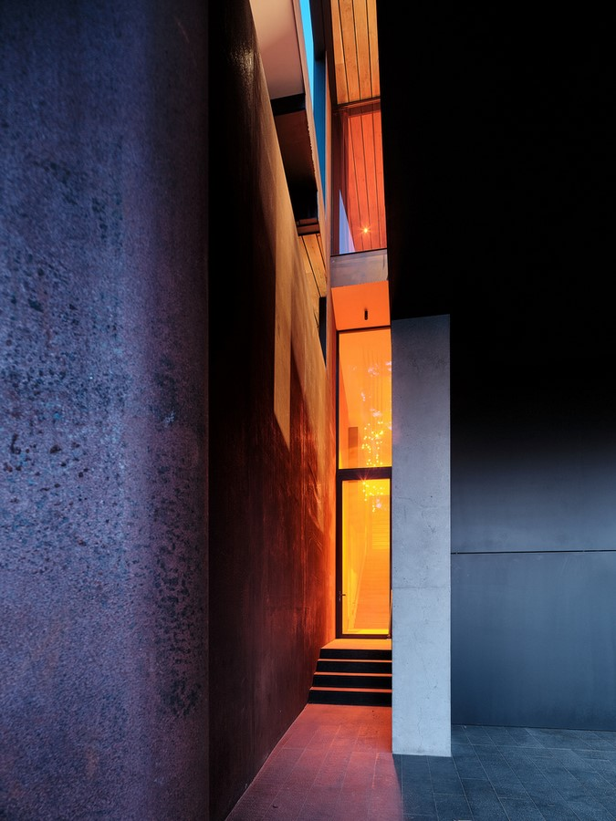 Three-storey coloured window, Lookout House created by Faulkner Architects - Sheet6