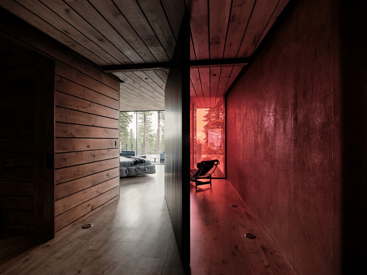 Three-storey coloured window, Lookout House created by Faulkner Architects - Sheet7
