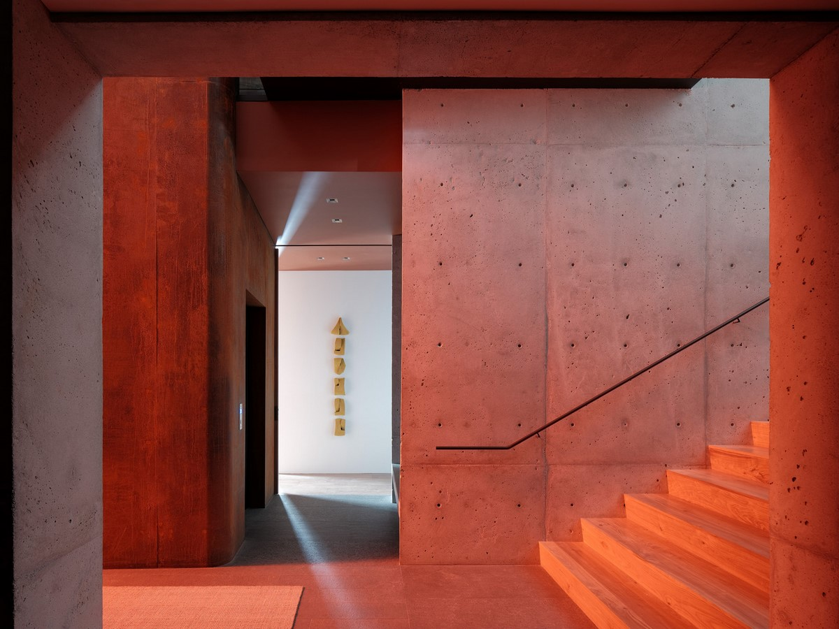 Three-storey coloured window, Lookout House created by Faulkner Architects - Sheet8