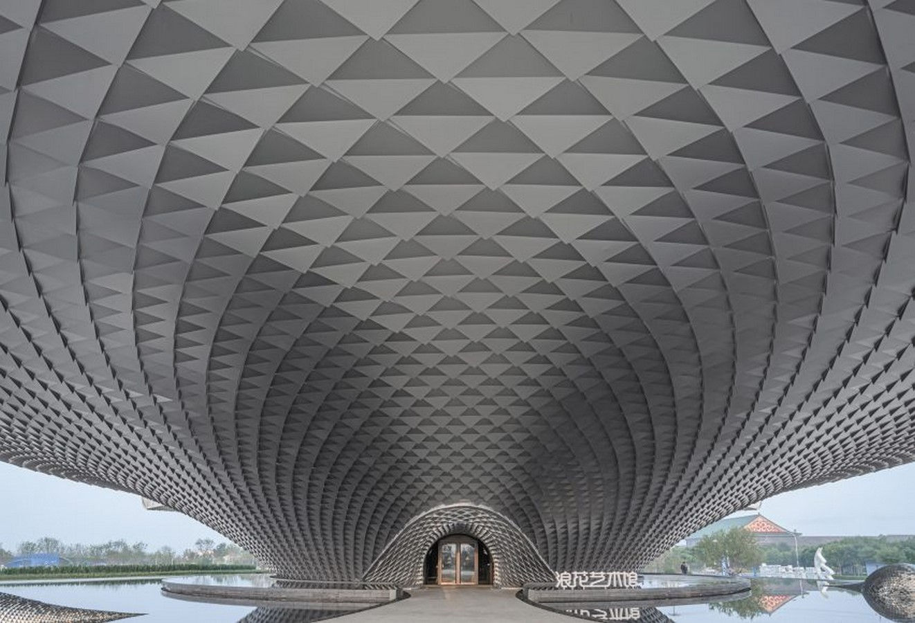 The Wave art gallery is wrapped by aluminum scales completed by Lacime Architects - Sheet2
