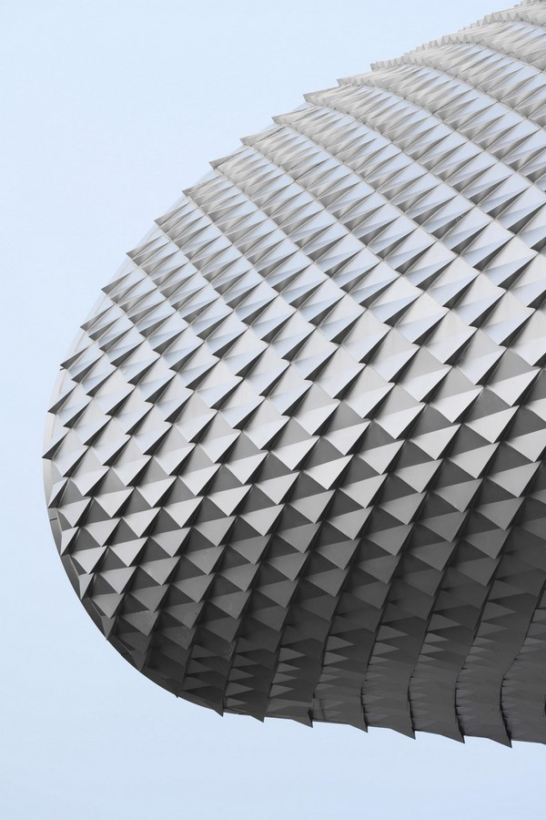The Wave art gallery is wrapped by aluminum scales completed by Lacime Architects - Sheet3