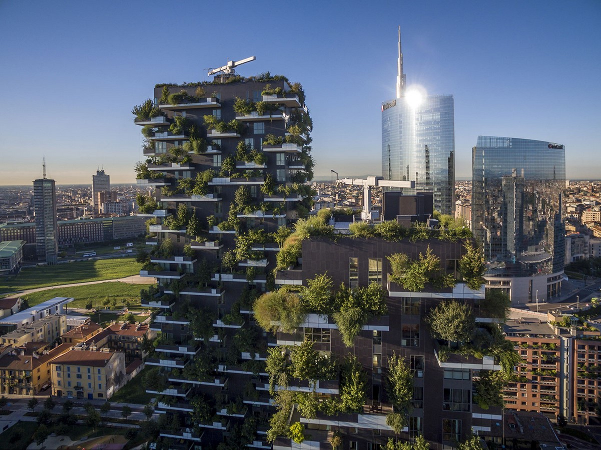 Examples of Sustainability in modern architecture forms. - Sheet15