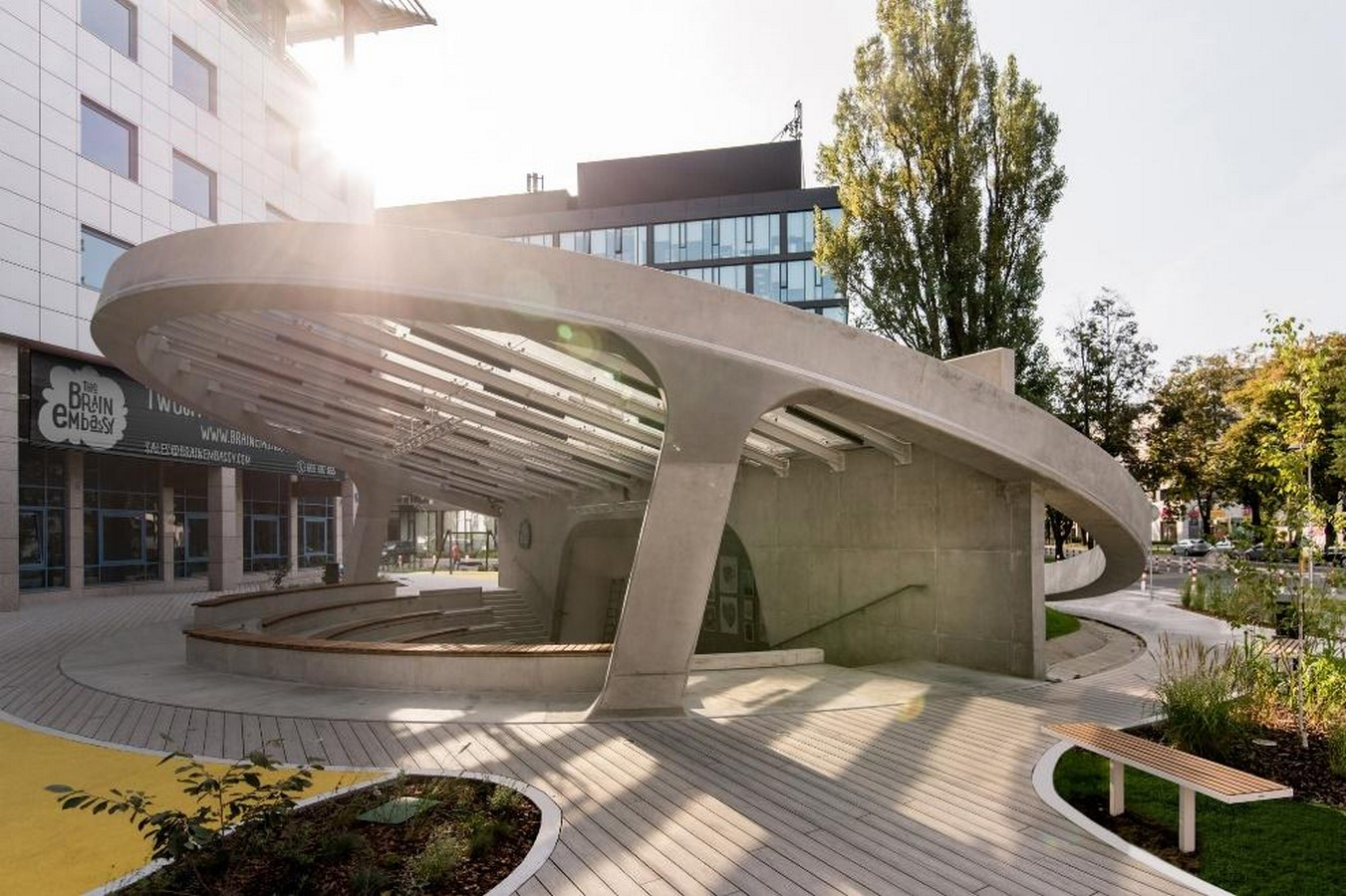 A concrete amphitheater as an 'open, democratic space' in Warsaw designed by Lina - Sheet10