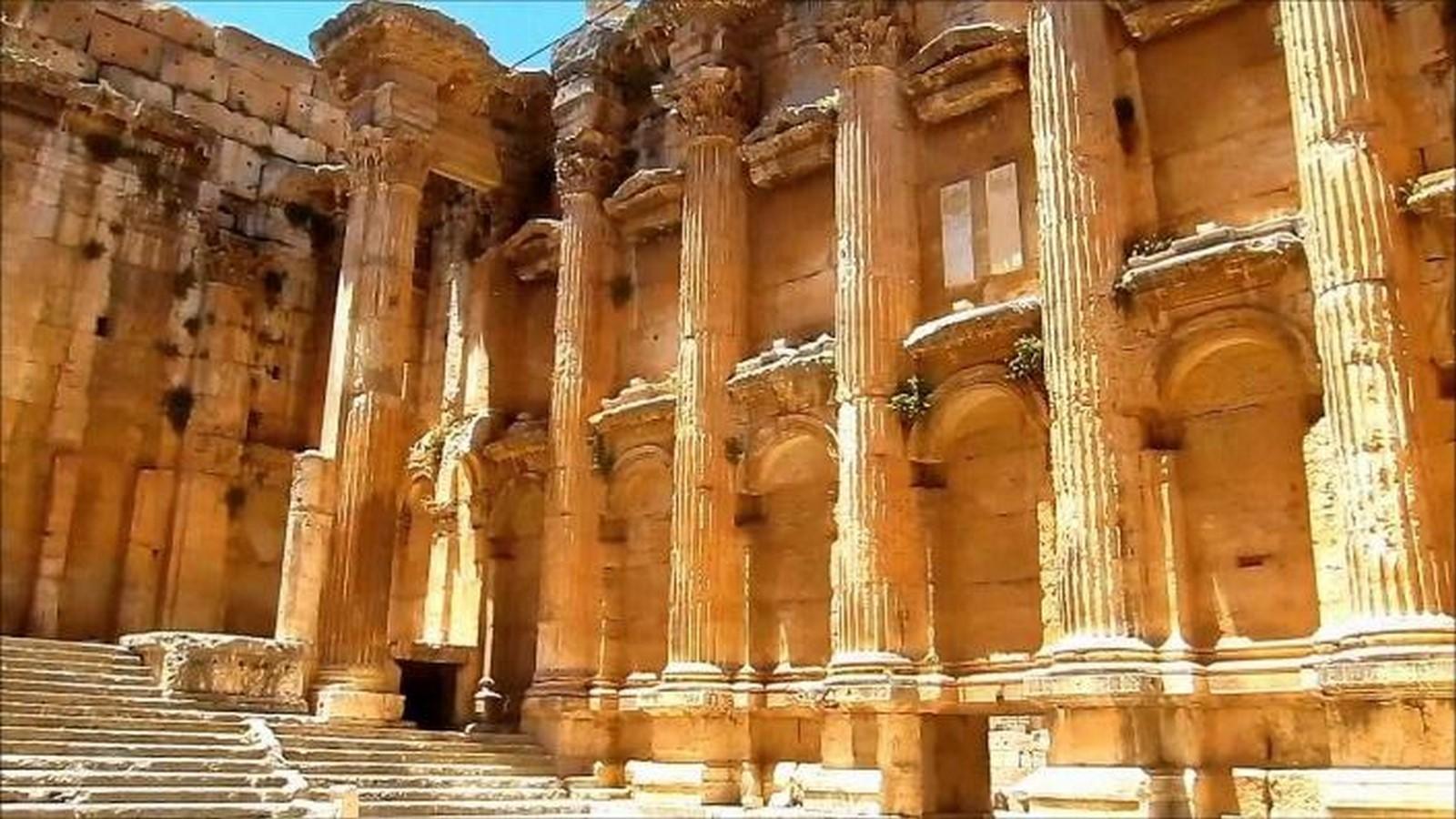 The temple of Bacchus, Lebanon - Sheet2