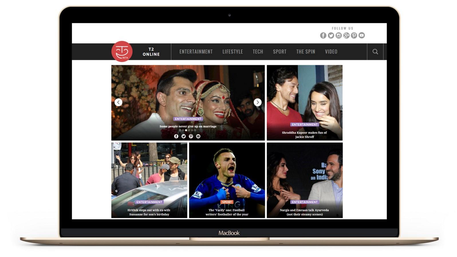 Entertainment News website (UX)